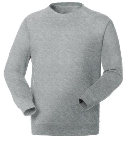Felpa da lavoro colore grigio chiaro personalizzabile con logo