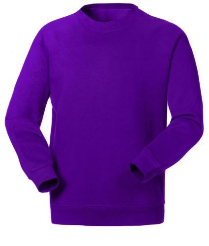 Felpa da lavoro colore porpora a girocollo personalizzabile con logo, ricami divise professionali, felpe professionali Torino, indumenti da lavoro