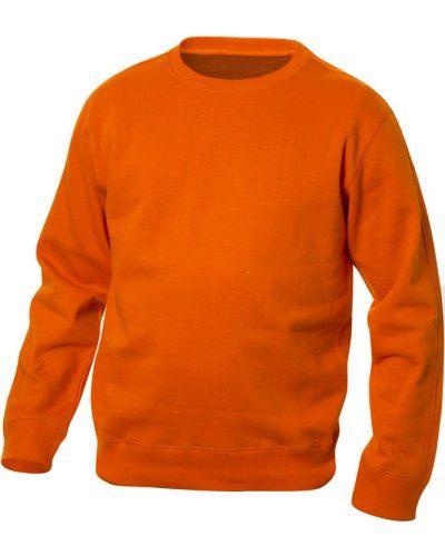 Felpa da lavoro colore arancione a girocollo in poliestere e cotone