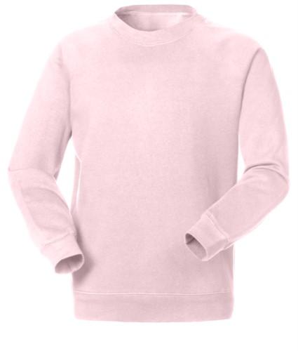 Felpa da lavoro in poliestere e cotone colore rosa chiaro