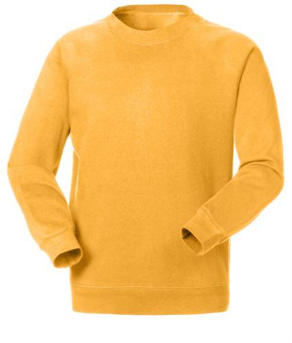 Felpa da lavoro per uso promozionale colore giallo | vendita all'ingrosso