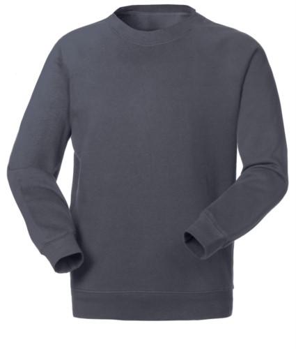 Felpa da lavoro per uso promozionale colore grigio scuro in poliestere e cotone
