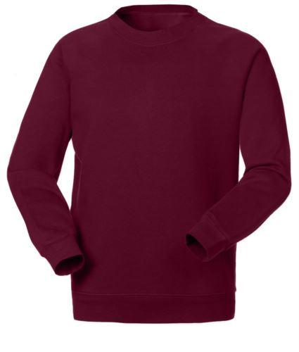 Felpa da lavoro per uso promozionale colore rosso | vendita all'ingrosso