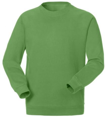 Felpa da lavoro per uso promozionale colore verde chiaro in poliestere e cotone