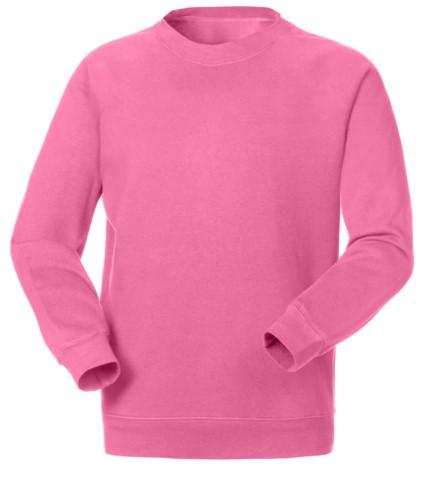 Felpa da lavoro per uso promozionale colore rosa in poliestere e cotone