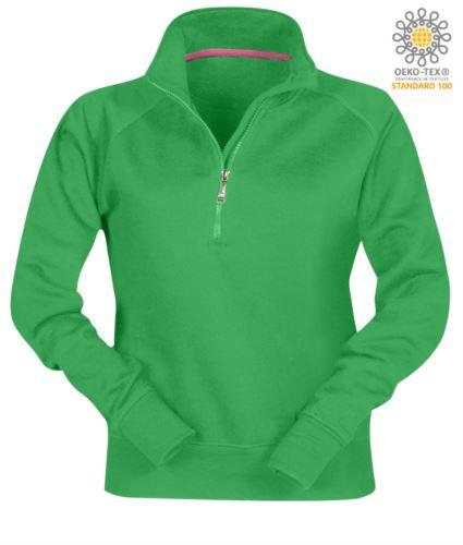felpe invernali per uso lavorativo da donna personalizzabili color jelly green