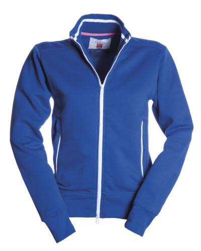 Felpa da lavoro donna con zip lunga colore azzurro