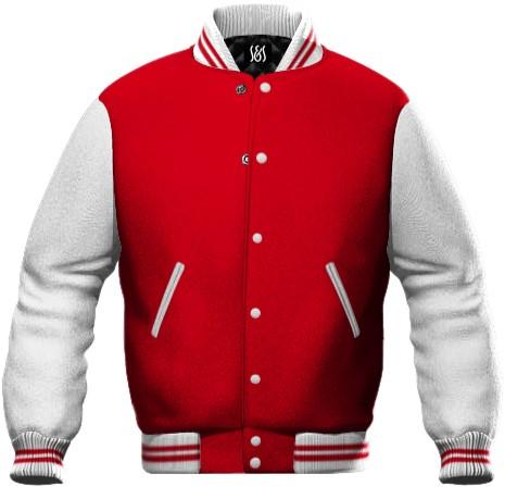 felpa da lavoro bicolore bianco e rosso