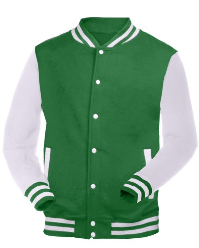 felpa da lavoro bicolore bianco e verde