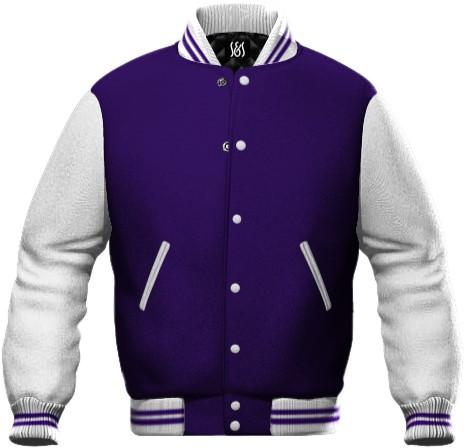 felpa da lavoro colore viola e bianco