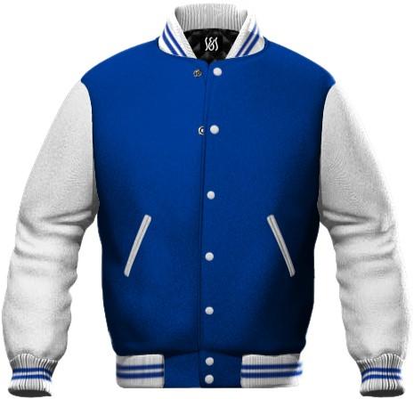 felpa da lavoro bicolore blu royal e bianco