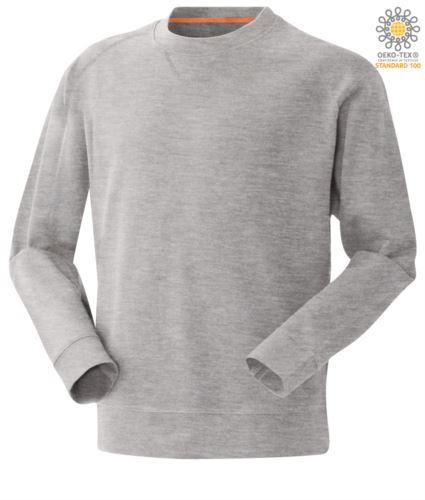 Felpa da lavoro colore grigio a girocollo modello da uomo