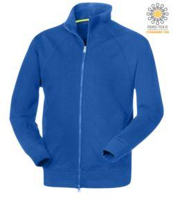 felpa da lavoro modello uomo a manica lunga zip lunga colore blu royal