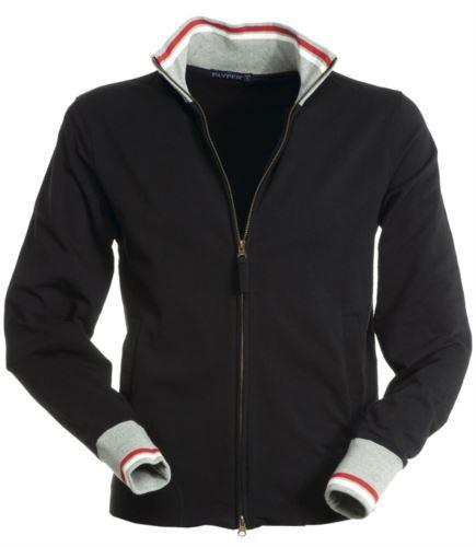 Felpa zip lunga colore nero con due tasche laterali in cotone ed elastan