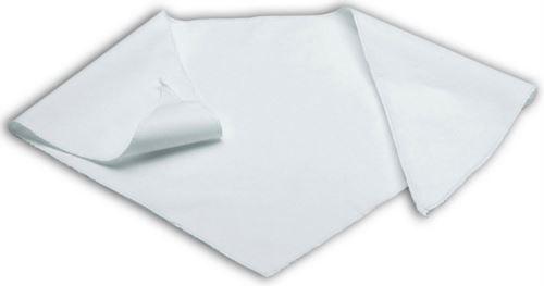 Foulard da cuoco, forma triangolare con bordo perimetrale in sorfilo, colore bianco