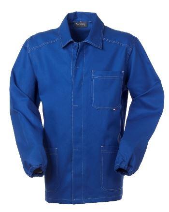 Giacca da lavoro colore azzurro con bottoni coperti 100% cotone irrestringibile