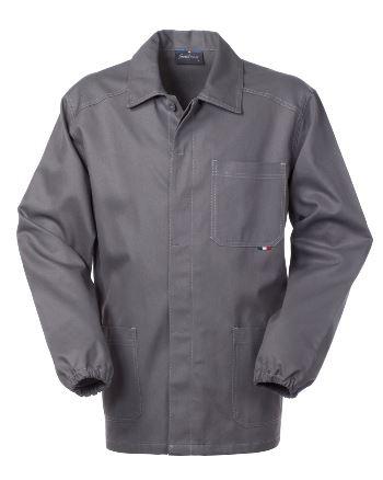 Giacca da lavoro colore grigio con bottoni coperti 100% cotone irrestringibile