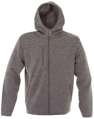 Pile con cappuccio zip lunga in knitted fleece con una tasca al petto e due laterali. Colore: Grigio Scuro