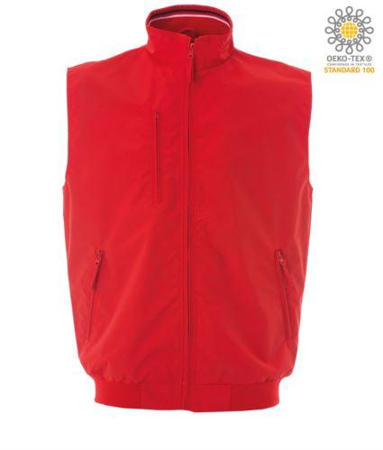 gilet estivo con zip lunga colore rosso 100% poliamide | 4 tasche