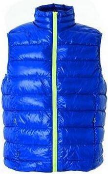 Gilet da lavoro in nylon, con imbottitura in poliestere, colore blu royal