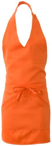 Grembiule con tascone unico centrale, colore arancione