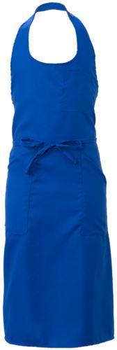 Grembiule con tasche e taschini, in poliestere, colore azzurro royal