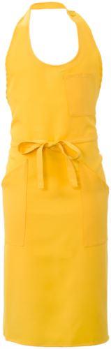 Grembiule con tasche e taschini, in poliestere, colore giallo