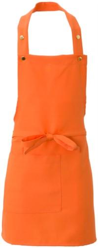 Grembiule con tascone laterale, in poliestere, colore arancio