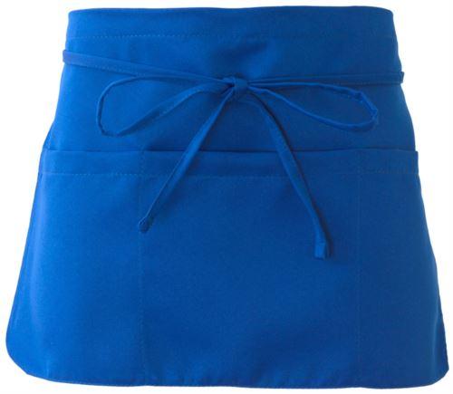 Grembiule con chiusura con laccio, colore azzurro royal