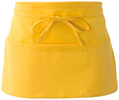 Grembiule con chiusura con laccio, colore giallo