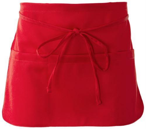 Grembiule con chiusura con laccio, colore rosso