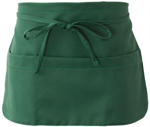 Grembiule con chiusura con laccio, colore verde