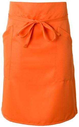 Grembiule cuoco con doppia tasca, chiusa con laccio in vita. Colore: Arancione