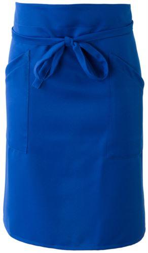 Grembiule cuoco con doppia tasca, chiusa con laccio in vita. Colore: Azzurro Royal