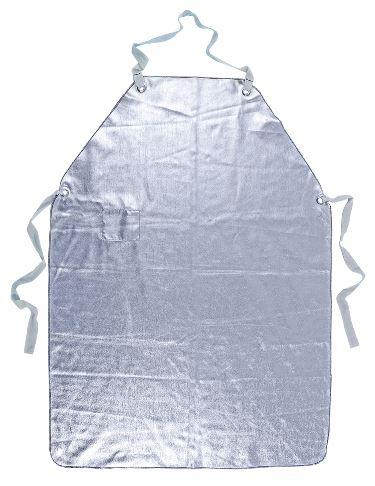 Grermbiule sfoderato, proteffe da calore a schizzi di metallo fuso, colore argento, certificato EN 11612:2009