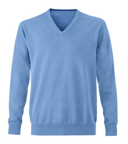 Maglioncino in cotone da uomo azzurro