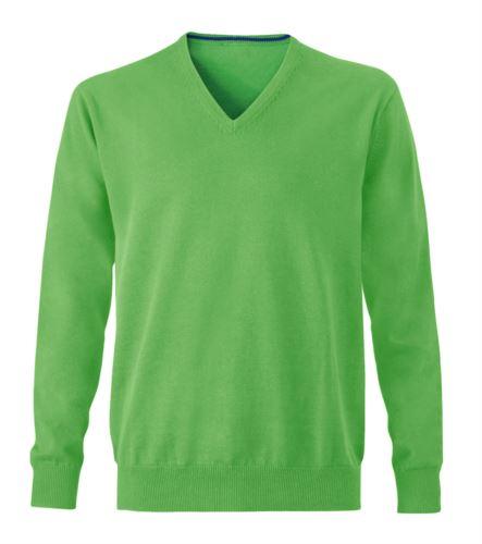 Maglione uomo elegante verde