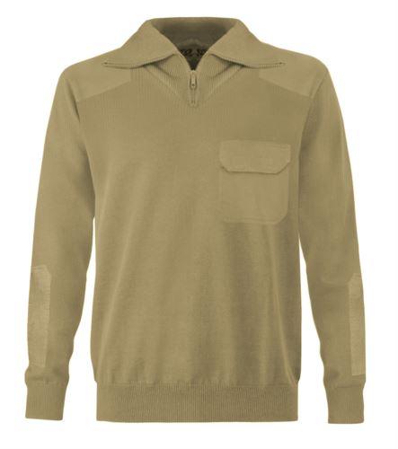 maglione zip corta da uomo