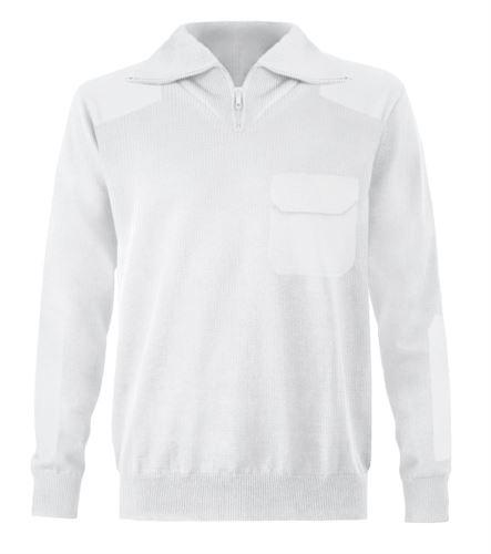 maglione zip corta uomo