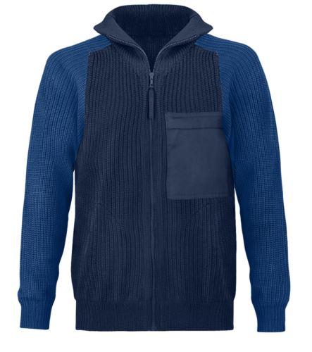 Maglione con zip lunga