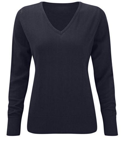 maglione blu elegante da donna