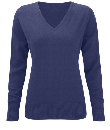 Maglione donna blu elegante