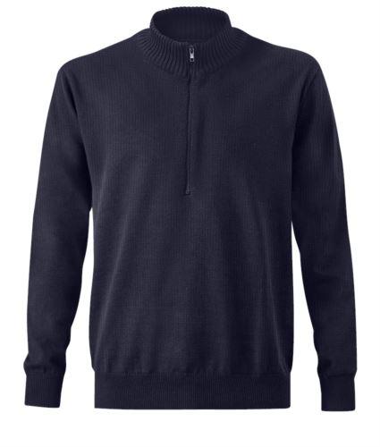 Maglione pesante multipro, mezza zip, polsini e fondo maglia elasticizzati, certificata EN 1149-5, EN 11612:2009, EN ISO 340:2004, maglione ignifugo, maglione antistatico