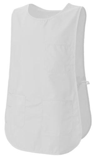 Mantella con tasche, con possibilità di regolazione laterale con laccetti, colore bianco