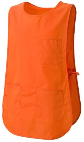Mantella con tasche, con possibilità di regolazione laterale con laccetti, colore arancione