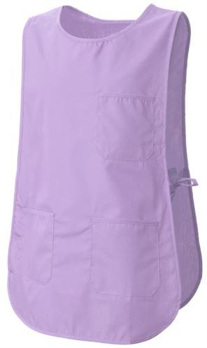 Mantella con tasche, con possibilità di regolazione laterale con laccetti, colore lilla