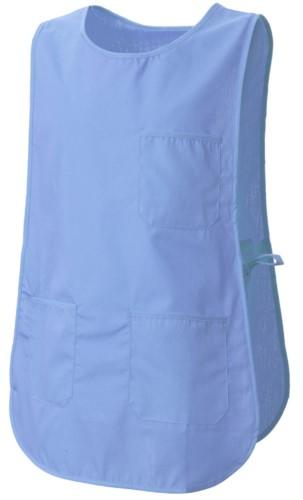 Mantella con tasche, con possibilità di regolazione laterale con laccetti, colore celeste