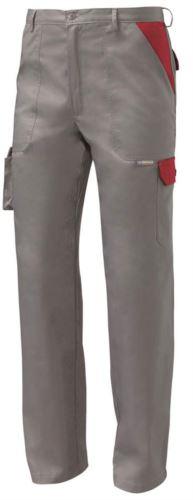 Pantalone da lavoro multitasche bicolore grigio, abbigliamento da lavoro per imprese di pulizia