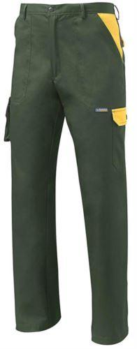 Pantalone da lavoro multitasche bicolore verde, abbigliamento da lavoro giardiniere