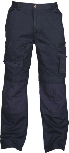 Pantaloni da lavoro multitasche blu, pantaloni per officina